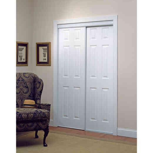 Erias 106 Series 71 In. W. x 80-1/2 In. H. White Vinyl Clad 6-Panel Bypass Door
