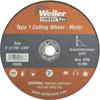 Weiler Vortec 4 In. Type 1 Cut-Off Wheel