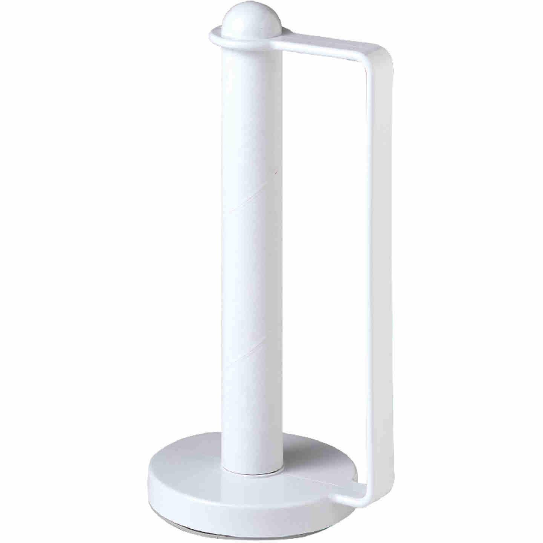 Spectrum White Portable Plastic Paper Towel Holder Image 3