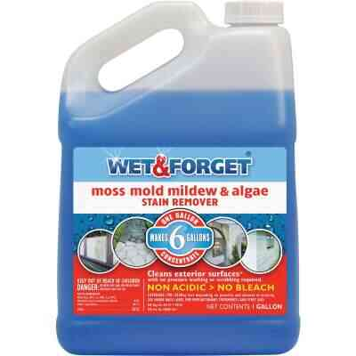 Wet & Forget 1 Gal. Liquid Concentrate Moss, Mold, Mildew, & Algae Stain Remover