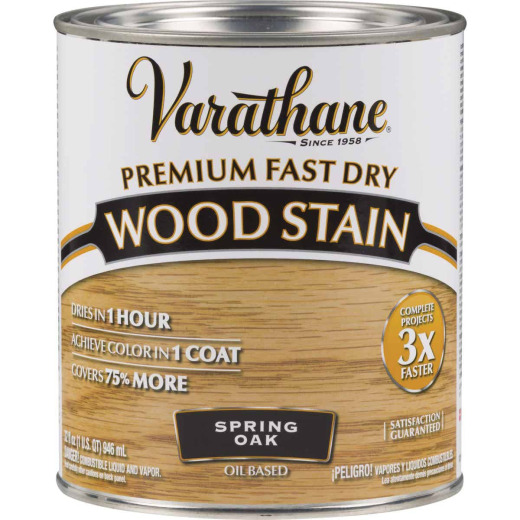 Varathane Fast Dry Spring Oak Urethane Modified Alkyd Interior Wood Stain, 1 Qt.