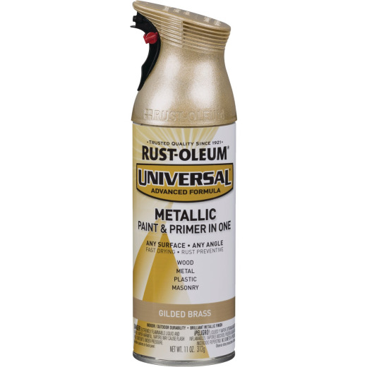 Rust-Oleum Universal 11 Oz. Metallic Gilded Brass Paint