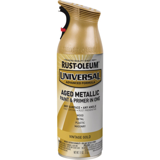 Rust-Oleum Universal 12 Oz. Metallic Vintage Gold Paint
